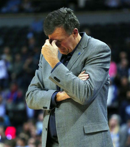 <div class='meta'><div class='origin-logo' data-origin='none'></div><span class='caption-text' data-credit='AP Photo/ Jack Dempsey'>Houston Rockets head coach Kevin McHale reacts after an NBA  game against the Denver Nuggets.</span></div>