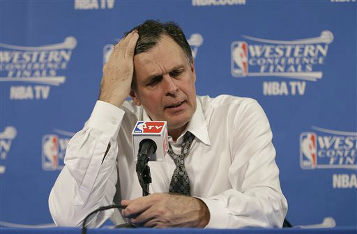 <div class='meta'><div class='origin-logo' data-origin='none'></div><span class='caption-text' data-credit='AP Photo/ Rick Bowmer'>Houston Rockets head coach Kevin McHale speaks after Game 2 of the NBA basketball Western Conference finals against the Golden State Warriors.</span></div>