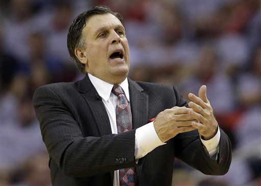"<div class=""meta image-caption""><div class=""origin-logo origin-image none""><span>none</span></div><span class=""caption-text"">Houston Rockets head coach Kevin McHale calls timeout during Game 3 of the NBA Western Conference finals against the Golden State Warriors, May 23, 2015. (AP Photo/ David J. Phillip)</span></div>"