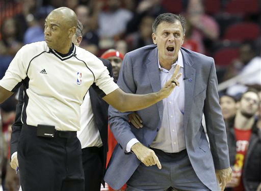 <div class='meta'><div class='origin-logo' data-origin='none'></div><span class='caption-text' data-credit='AP Photo/ Pat Sullivan'>Houston Rockets head coach Kevin McHale, right, screams about a foul call beside referee Karl Lane in an NBA game against the Golden State Warriors, Oct. 30, 2015.</span></div>