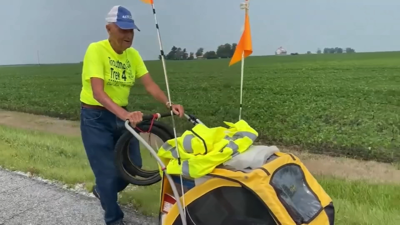 90-year-old Peoria man walks thousands of miles to fight childhood cancer