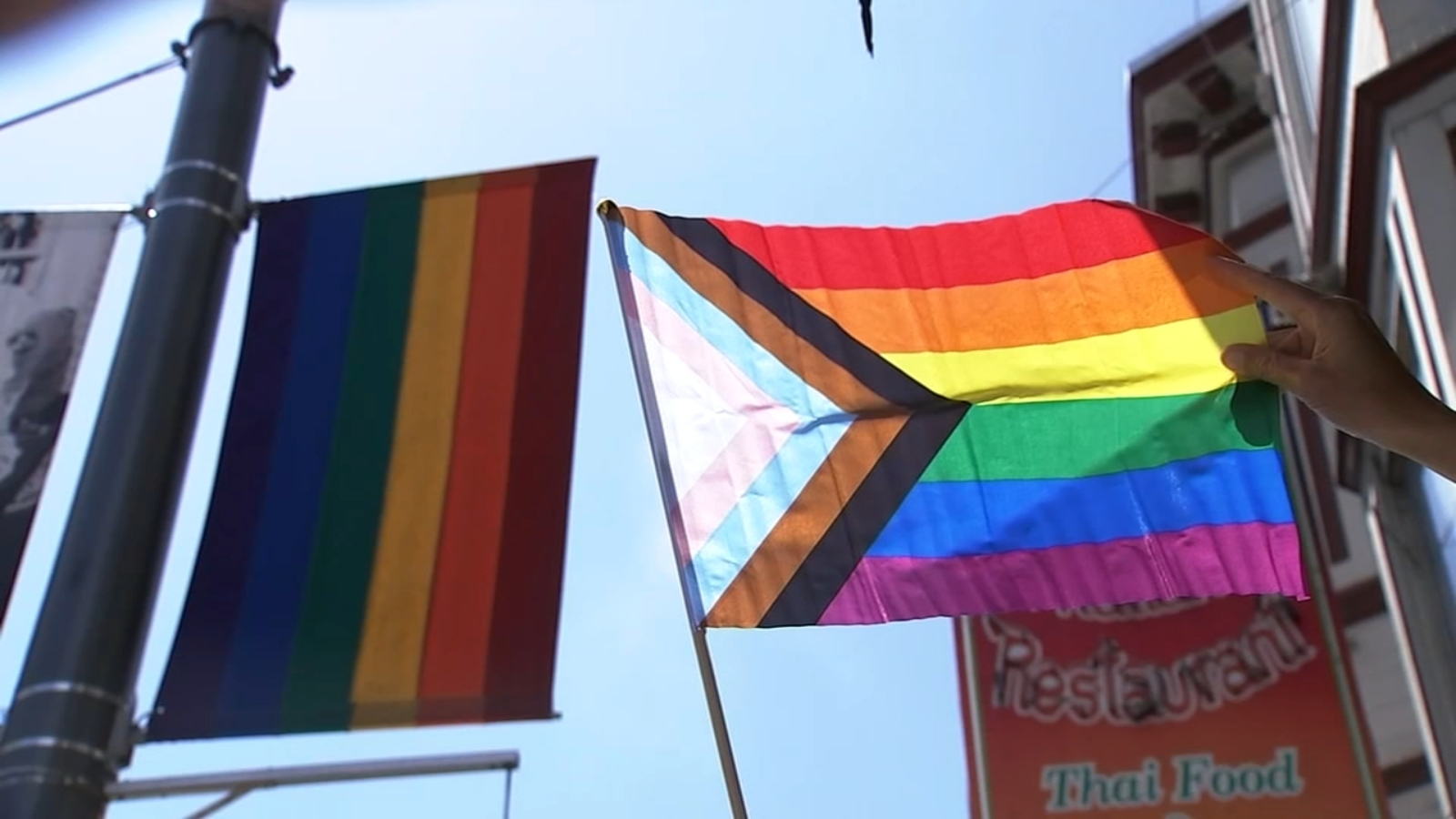 Lgtbq Community Split Over Revising Rainbow Flag To Progress Pride Flag Abc7 Chicago