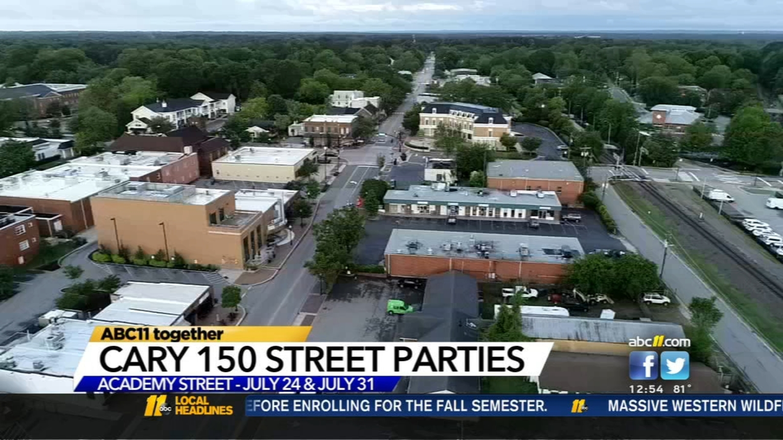 Street Parties celebrate Cary150