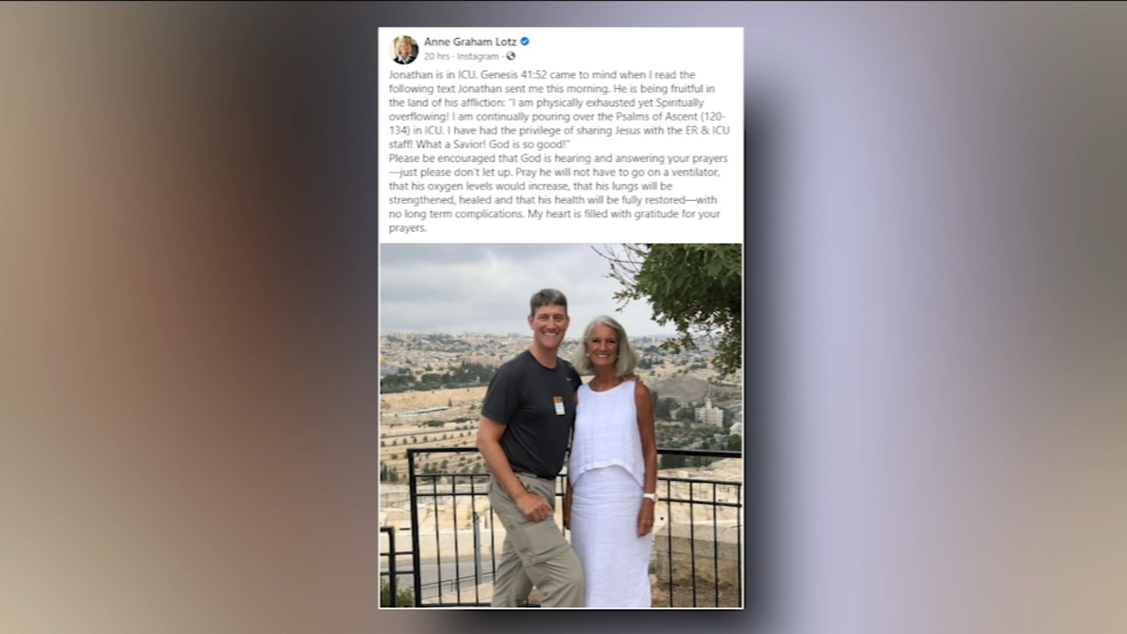 Billy Graham's grandson, an evangelical pastor, in 'critical condition' with COVID-19