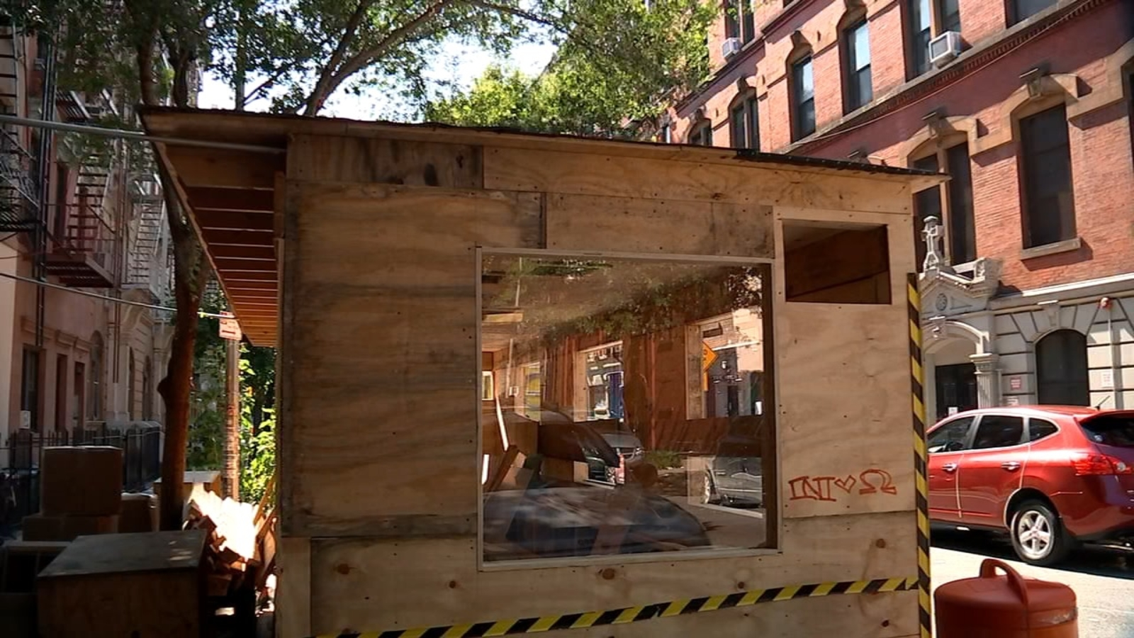 Two-story outdoor dining structure raising eyebrows in the East Village