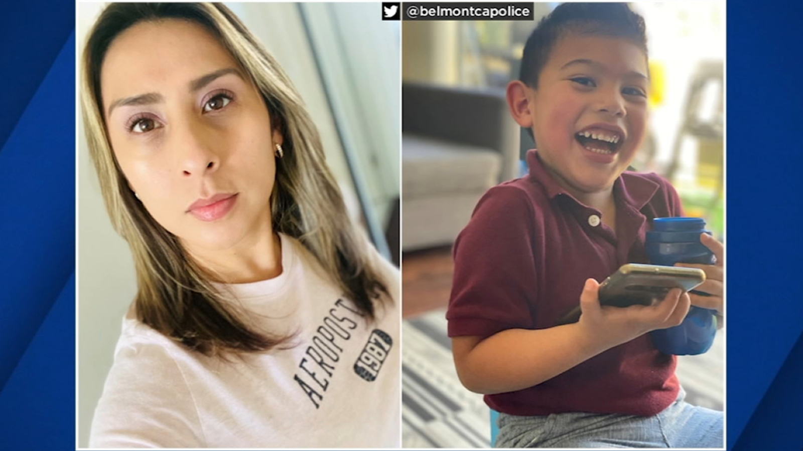 Missing San Mateo mother, 3-year-old son safely located, Belmont police say