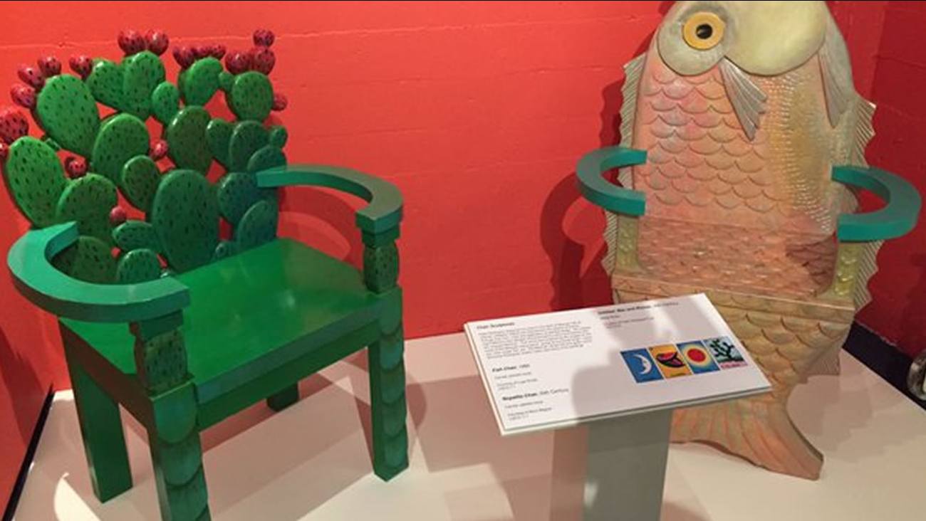 Artwork by artist Peter Rodriguez is on display at the Mexican Museum in San Francisco, Nov. 19, 2015.