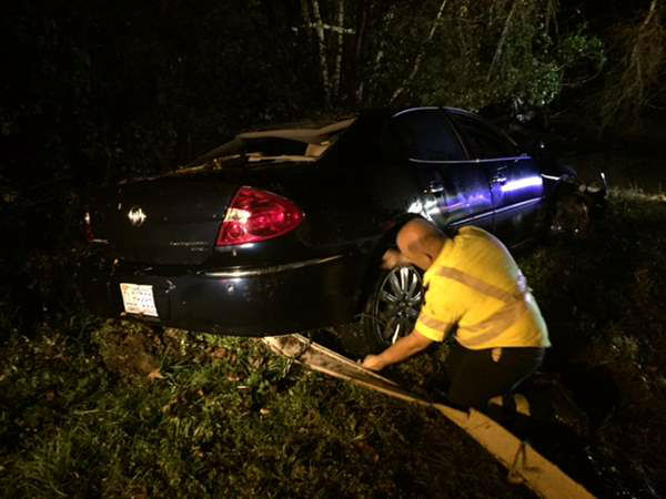 """<div class=""""meta image-caption""""><div class=""""origin-logo origin-image none""""><span>none</span></div><span class=""""caption-text"""">North Carolina State Highway Patrol is investigating how a car ended up in a Wake County creek (WTVD Photo)</span></div>"""