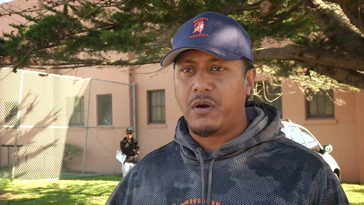 Balboa High School football coach Edward Williams saved a woman trapped in a fire, Thursday, November 19, 2015.