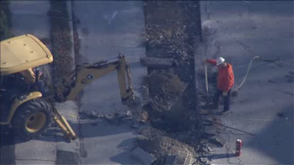 Gas line struck in King of Prussia, no injuries