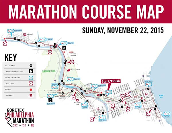 Philadelphia Marathon Map Philadelphia Marathon road closures, transit impact, and event