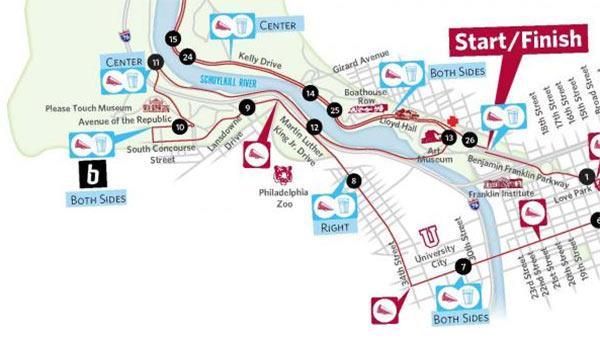 philadelphia marathon course map Philadelphia Marathon Road Closures Transit Impact And Event philadelphia marathon course map