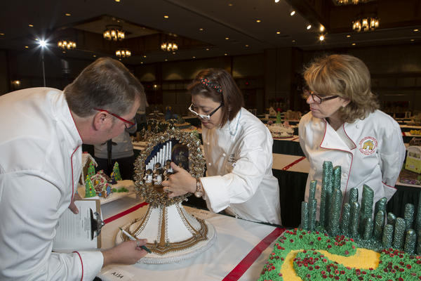 "<div class=""meta image-caption""><div class=""origin-logo origin-image none""><span>none</span></div><span class=""caption-text"">Entries are inspected at the National Gingerbread House Competition 2015. (Courtesy The Omni Grove Park Inn)</span></div>"