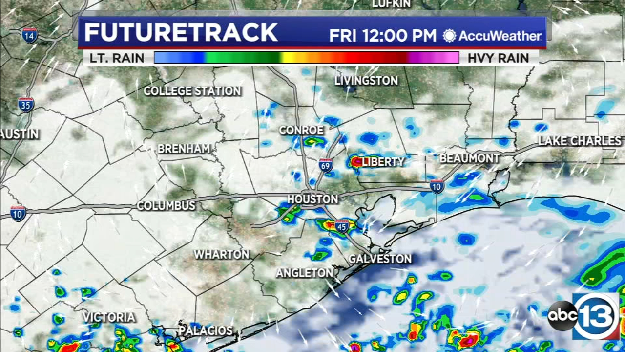 Scattered downpours Friday, drier this weekend