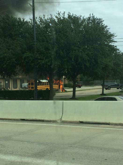 <div class='meta'><div class='origin-logo' data-origin='none'></div><span class='caption-text' data-credit='KTRK Photo/ KTRK'>A Spring ISD school bus with students on board caught fire today.</span></div>