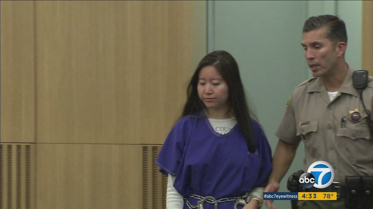 San Pedro teacher Michelle Yeh appears in court on Friday, Nov. 20, 2015, on charges of sex-related allegations with students.