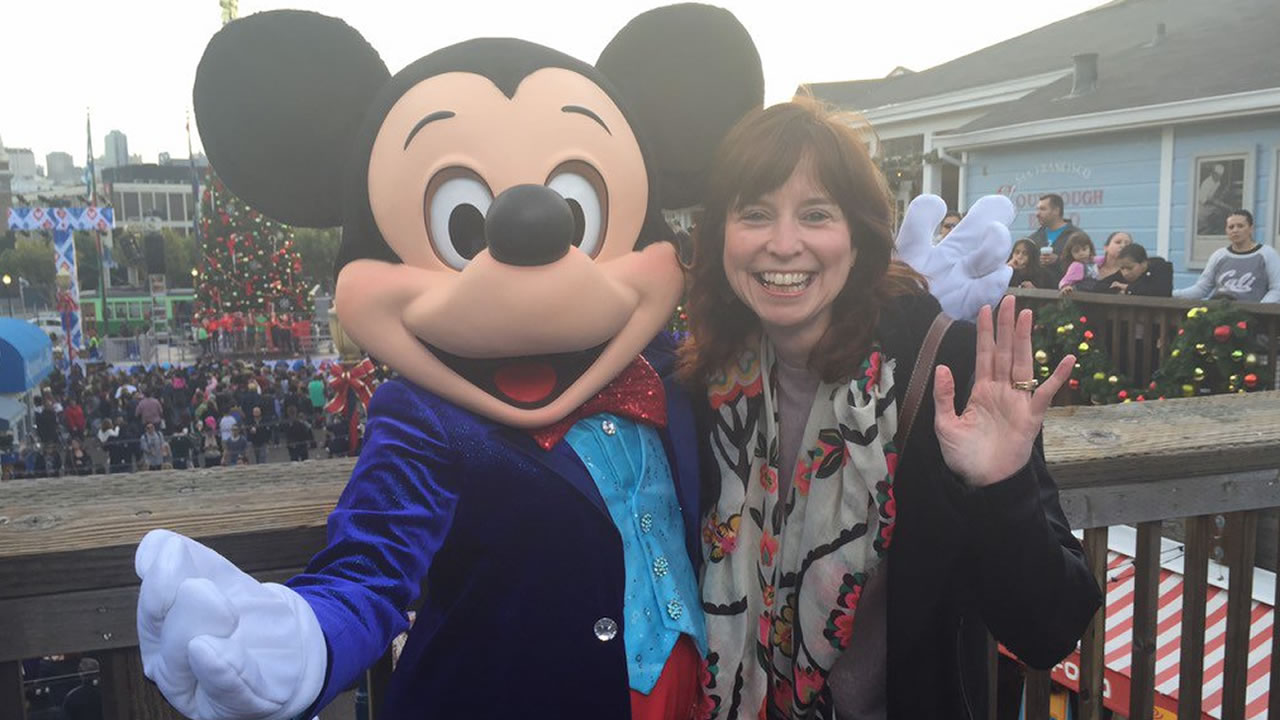 "<div class=""meta image-caption""><div class=""origin-logo origin-image none""><span>none</span></div><span class=""caption-text"">ABC7 employee Maggie Baxter with Mickey Mouse at Pier 39 in San Francisco on Saturday, November 21, 2015. (Photo submitted to KGO-TV by @Maggiebmcc/Twitter)</span></div>"