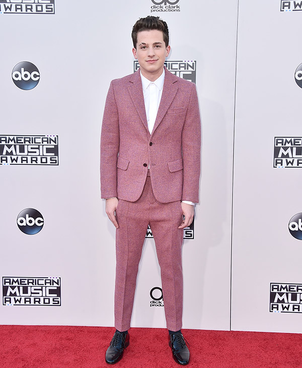 <div class='meta'><div class='origin-logo' data-origin='AP'></div><span class='caption-text' data-credit='Jordan Strauss/Invision/AP'>Charlie Puth arrives at the American Music Awards at the Microsoft Theater on Sunday, Nov. 22, 2015, in Los Angeles.</span></div>