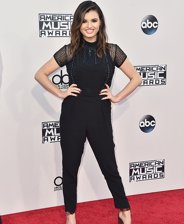 <div class='meta'><div class='origin-logo' data-origin='AP'></div><span class='caption-text' data-credit='Jordan Strauss/Invision/AP'>Rebecca Black arrives at the American Music Awards at the Microsoft Theater on Sunday, Nov. 22, 2015, in Los Angeles.</span></div>