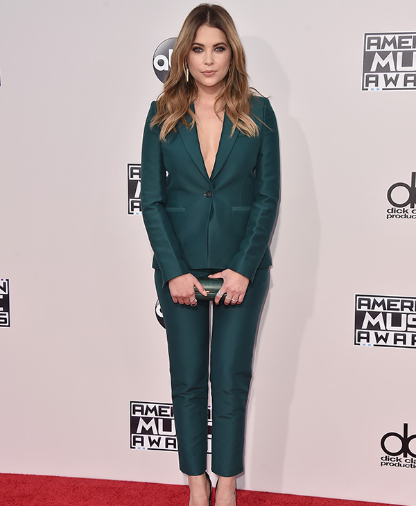 <div class='meta'><div class='origin-logo' data-origin='AP'></div><span class='caption-text' data-credit='Jordan Strauss/Invision/AP'>Ashley Benson arrives at the American Music Awards at the Microsoft Theater on Sunday, Nov. 22, 2015, in Los Angeles.</span></div>