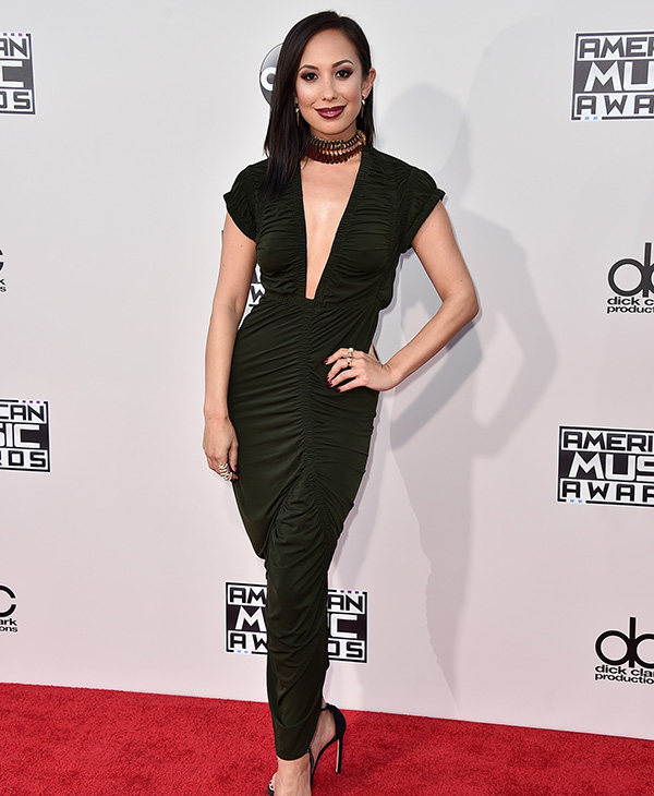 "<div class=""meta image-caption""><div class=""origin-logo origin-image ap""><span>AP</span></div><span class=""caption-text"">Cheryl Burke arrives at the American Music Awards at the Microsoft Theater on Sunday, Nov. 22, 2015, in Los Angeles. (Jordan Strauss/Invision/AP)</span></div>"