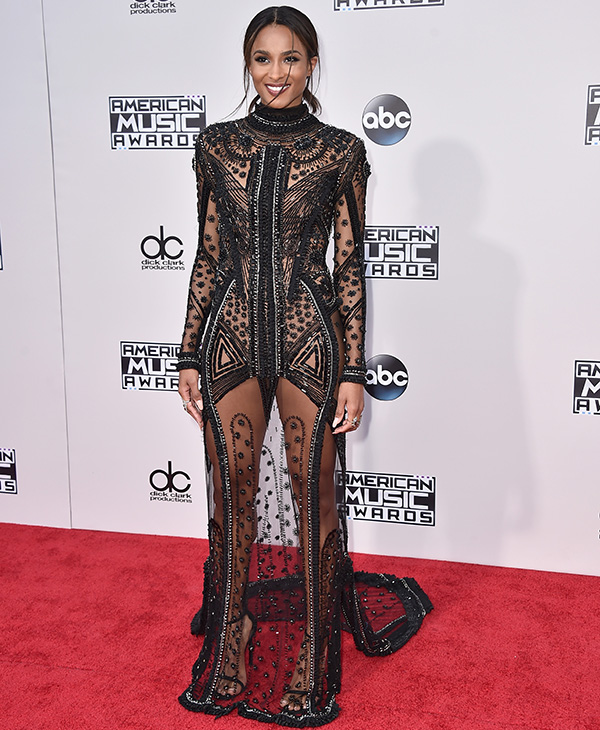 "<div class=""meta image-caption""><div class=""origin-logo origin-image ap""><span>AP</span></div><span class=""caption-text"">Ciara arrives at the American Music Awards at the Microsoft Theater on Sunday, Nov. 22, 2015, in Los Angeles. (Jordan Strauss/Invision/AP)</span></div>"