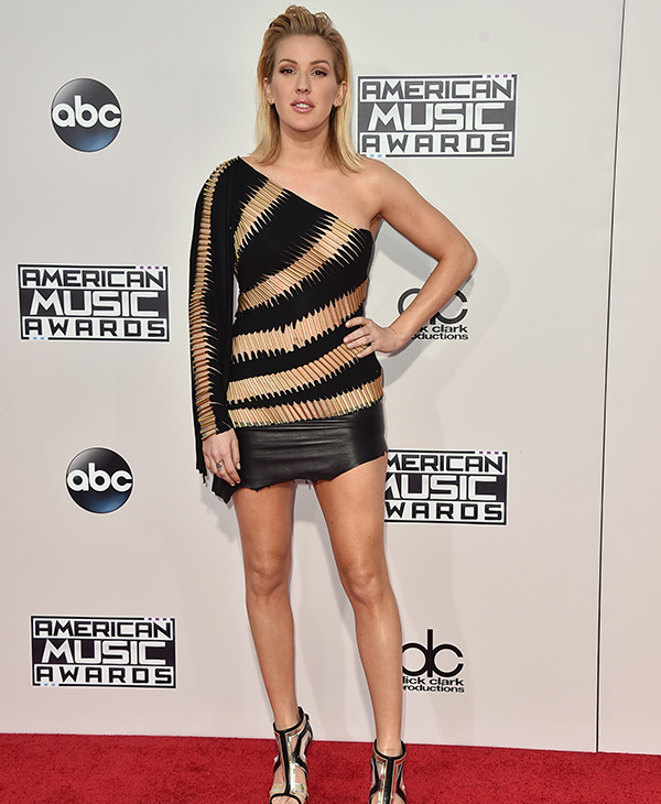 <div class='meta'><div class='origin-logo' data-origin='AP'></div><span class='caption-text' data-credit='Jordan Strauss/Invision/AP'>Ellie Goulding arrives at the American Music Awards at the Microsoft Theater on Sunday, Nov. 22, 2015, in Los Angeles.</span></div>