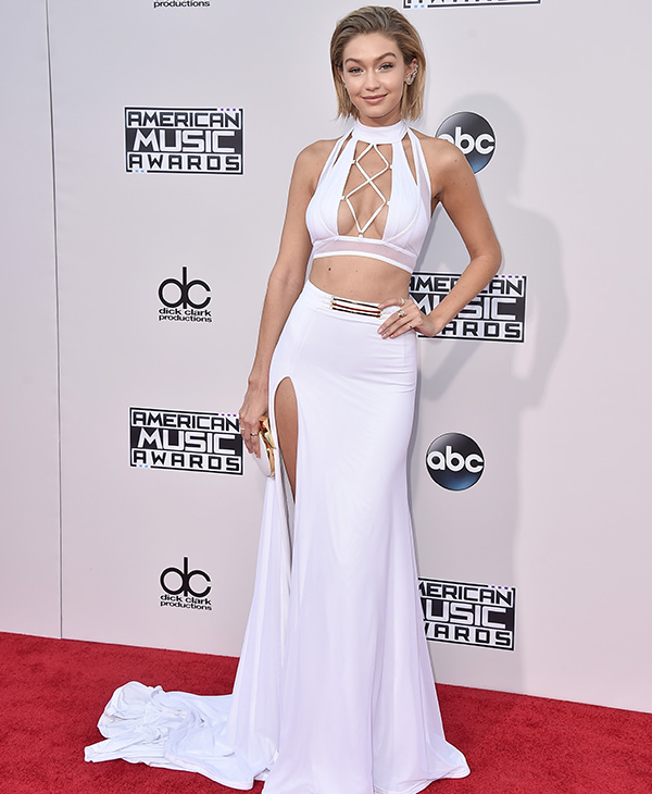 <div class='meta'><div class='origin-logo' data-origin='AP'></div><span class='caption-text' data-credit='Jordan Strauss/Invision/AP'>Gigi Hadid arrives at the American Music Awards at the Microsoft Theater on Sunday, Nov. 22, 2015, in Los Angeles.</span></div>
