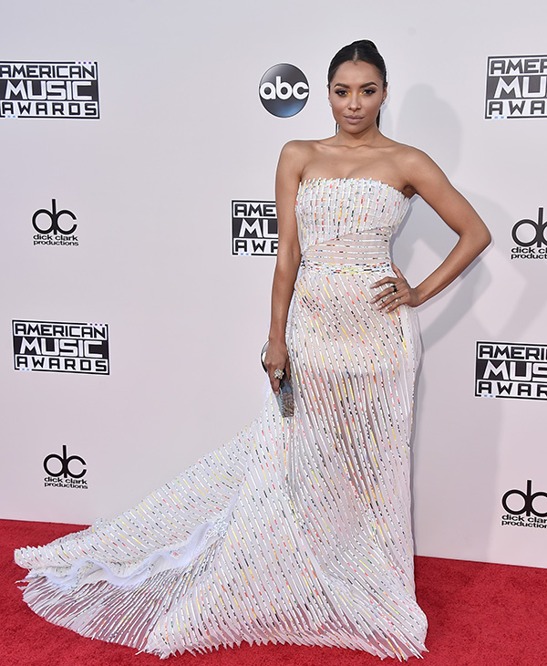 "<div class=""meta image-caption""><div class=""origin-logo origin-image ap""><span>AP</span></div><span class=""caption-text"">Kat Graham arrives at the American Music Awards at the Microsoft Theater on Sunday, Nov. 22, 2015, in Los Angeles. (Jordan Strauss/Invision/AP)</span></div>"
