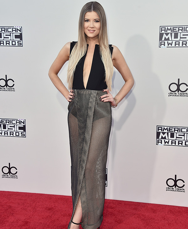 "<div class=""meta image-caption""><div class=""origin-logo origin-image ap""><span>AP</span></div><span class=""caption-text"">Meghan Rienks arrives at the American Music Awards at the Microsoft Theater on Sunday, Nov. 22, 2015, in Los Angeles. (Jordan Strauss/Invision/AP)</span></div>"