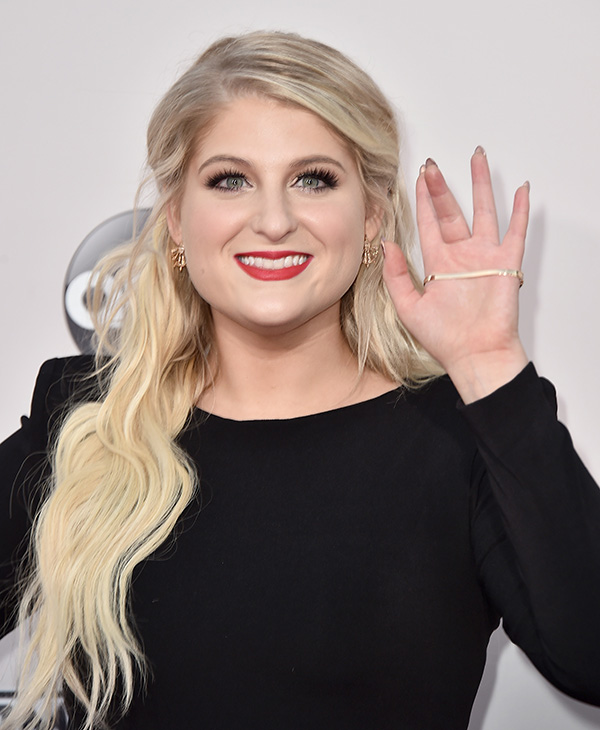 <div class='meta'><div class='origin-logo' data-origin='AP'></div><span class='caption-text' data-credit='Jordan Strauss/Invision/AP'>Meghan Trainor arrives at the American Music Awards at the Microsoft Theater on Sunday, Nov. 22, 2015, in Los Angeles.</span></div>