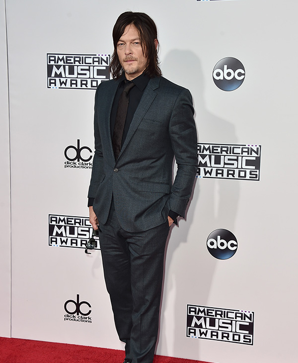 <div class='meta'><div class='origin-logo' data-origin='AP'></div><span class='caption-text' data-credit='Jordan Strauss/Invision/AP'>Norman Reedus arrives at the American Music Awards at the Microsoft Theater on Sunday, Nov. 22, 2015, in Los Angeles.</span></div>