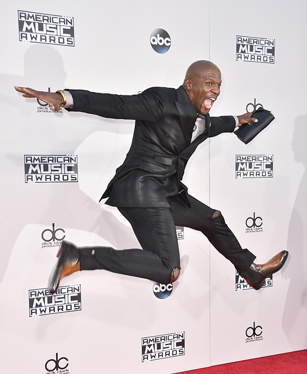 <div class='meta'><div class='origin-logo' data-origin='AP'></div><span class='caption-text' data-credit='Jordan Strauss/Invision/AP'>Terry Crews arrives at the American Music Awards at the Microsoft Theater on Sunday, Nov. 22, 2015, in Los Angeles.</span></div>