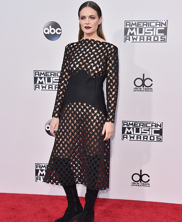 <div class='meta'><div class='origin-logo' data-origin='AP'></div><span class='caption-text' data-credit='Jordan Strauss/Invision/AP'>Tove Lo arrives at the American Music Awards at the Microsoft Theater on Sunday, Nov. 22, 2015, in Los Angeles.</span></div>