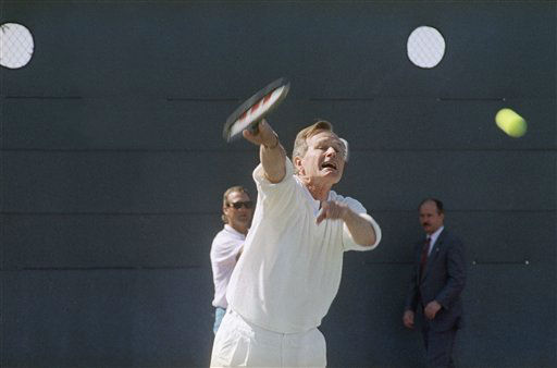 <div class='meta'><div class='origin-logo' data-origin='none'></div><span class='caption-text' data-credit='AP Photo/ R1 PO. PEC'>President George H. Bush playing tennis in California in April of 1991.</span></div>