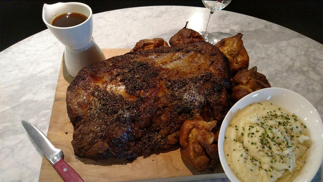 B&B Butchers' Prime Rib with Yorkshire Pudding