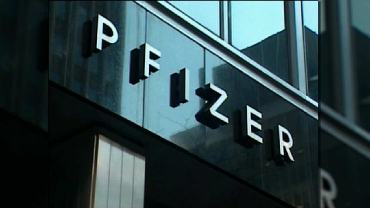 An undated image of a Pfizer building.