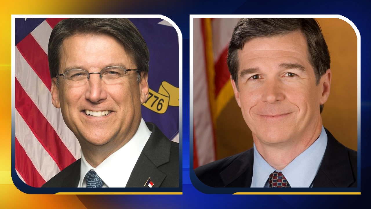 NC Gov. Pat McCrory and NC Attorney General Roy Cooper.