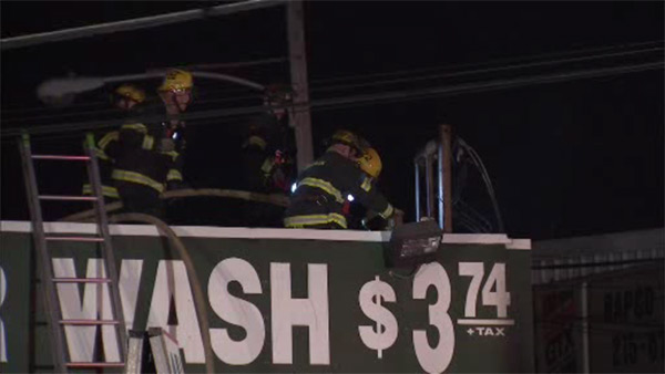 Electrical fire damages car wash in Bustleton