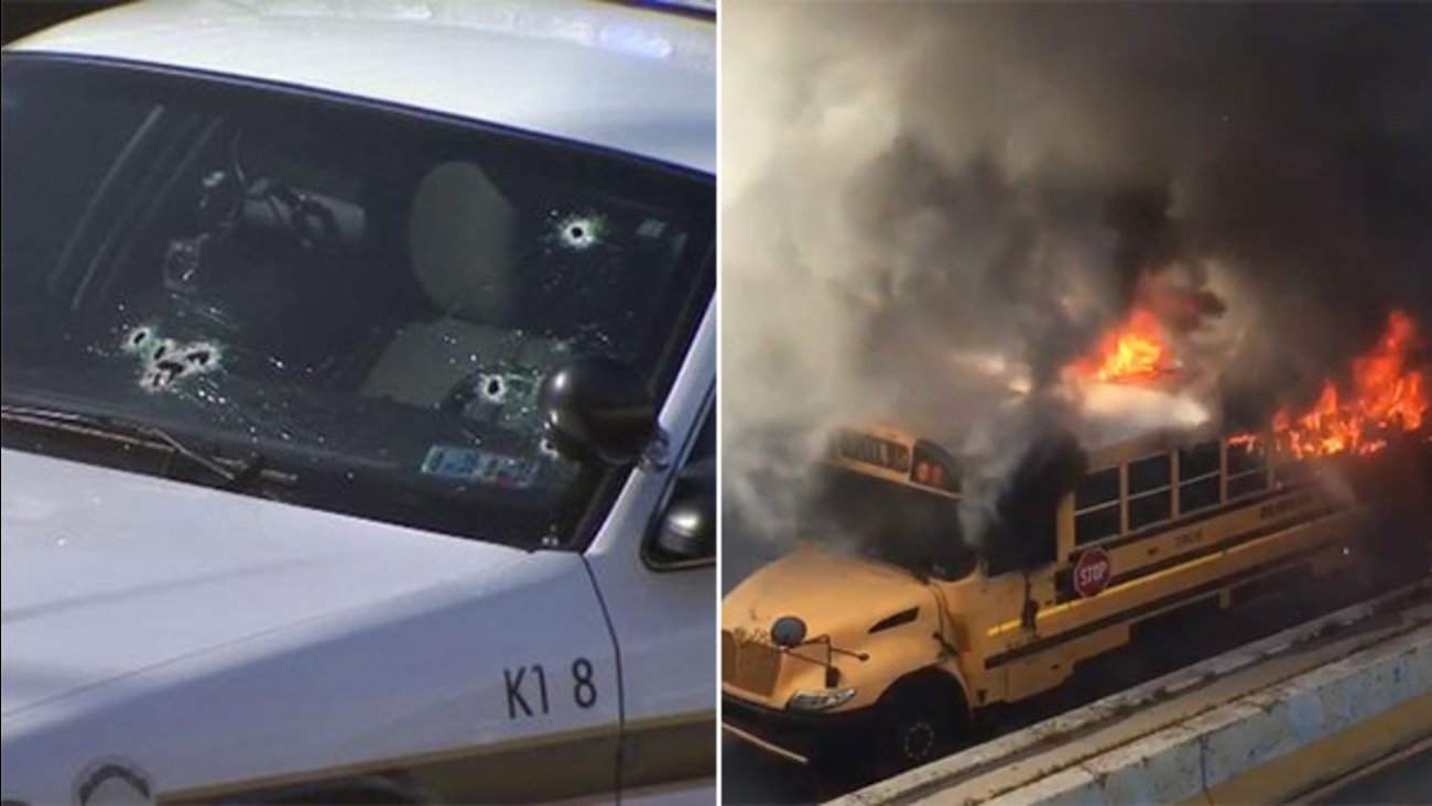 Pursuit leads to fiery crash, shooting of trooper on I-676 in Center City