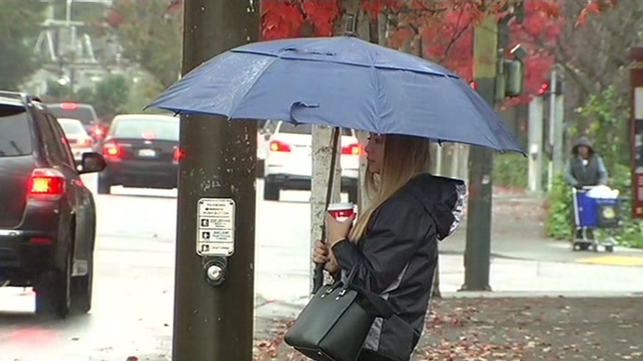 "<div class=""meta image-caption""><div class=""origin-logo origin-image none""><span>none</span></div><span class=""caption-text"">People brought out umbrellas in Novato, Calif. as wet weather hit the Bay Area on Tuesday, November 24, 2015. (KGO-TV)</span></div>"