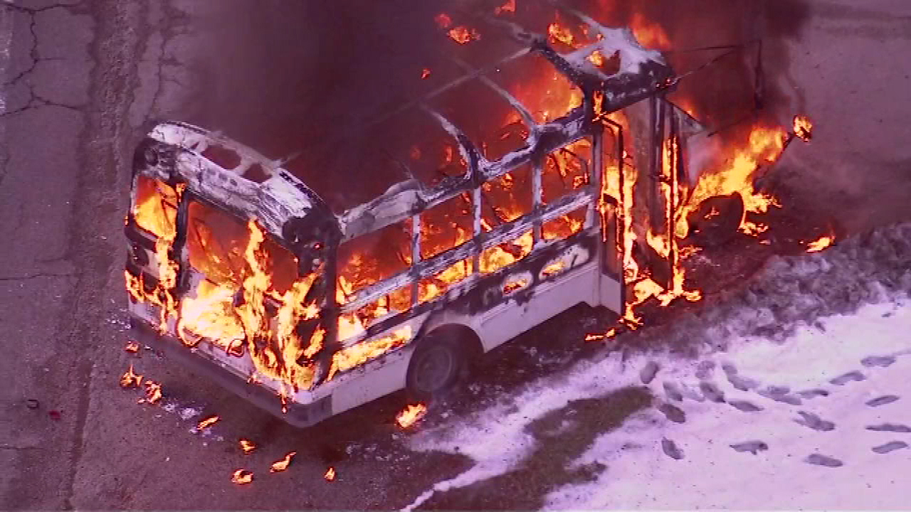 bus fire westchester