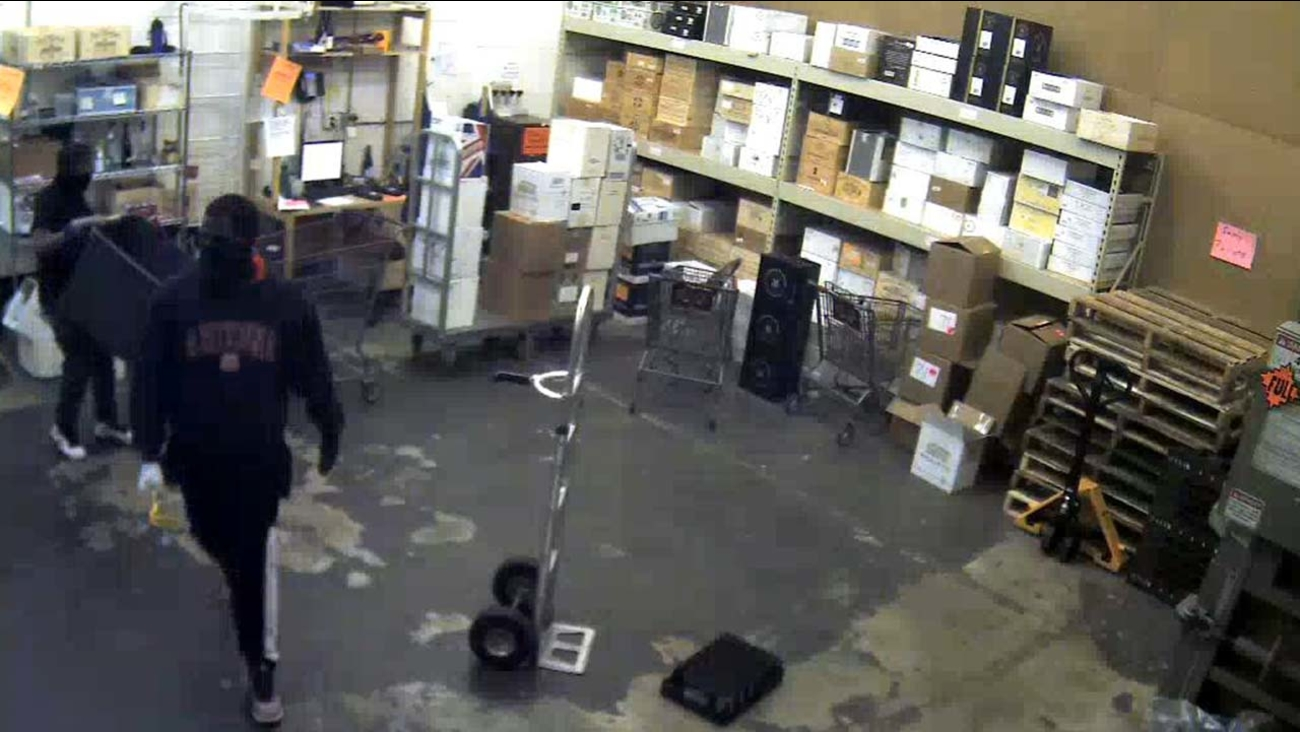 Two of the three suspects seen during a burglary in Houston
