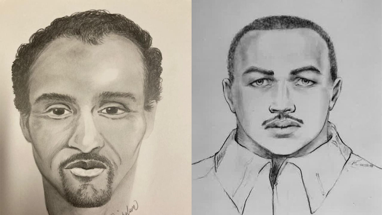 Sketches of the suspects