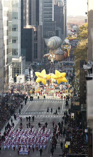 <div class='meta'><div class='origin-logo' data-origin='none'></div><span class='caption-text' data-credit='Photo/Ben Hider'>Balloons float down 6th Avenue for the 89th annual Macy's Thanksgiving Day Parade. (Photo by Ben Hider/Invision/AP)</span></div>