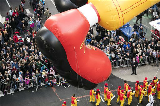 <div class='meta'><div class='origin-logo' data-origin='none'></div><span class='caption-text' data-credit='Photo/Ben Hider'>The Ronald McDonald balloon goes down 6th Avenue for the 89th annual Macy's Thanksgiving Day Parade. (Photo by Ben Hider/Invision/AP)</span></div>