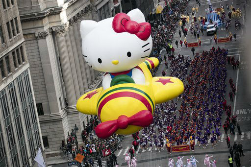 <div class='meta'><div class='origin-logo' data-origin='none'></div><span class='caption-text' data-credit='Photo/Ben Hider'>A Hello Kitty float. (Photo by Ben Hider/Invision/AP)</span></div>