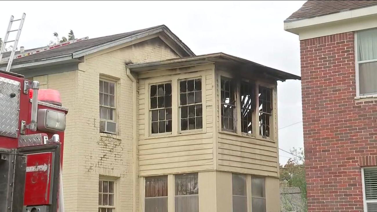 House fire on Palm Street