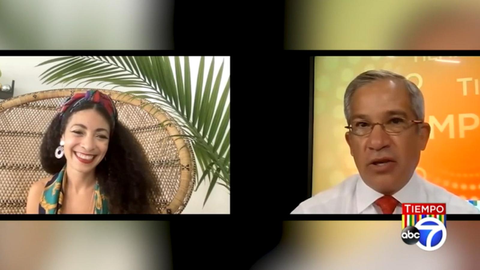 Tiempo with Joe Torres: Celebrating Hispanic Heritage Month through art - WABC-TV