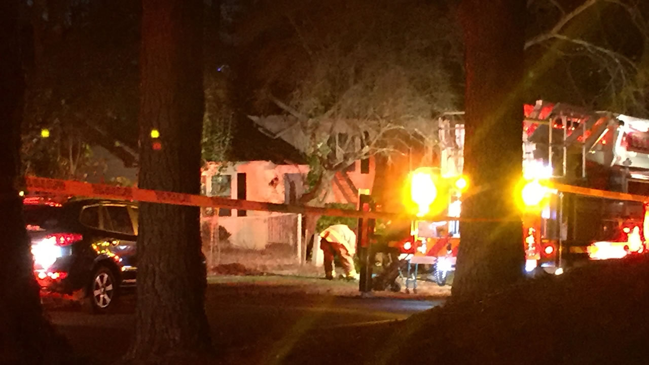 Flames that started in an attic area damaged a home near Shelley Lake Friday